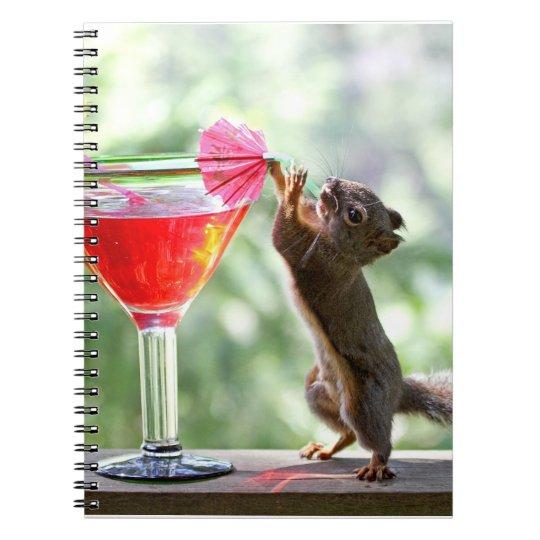 Squirrel Drinking Cocktail Notebook