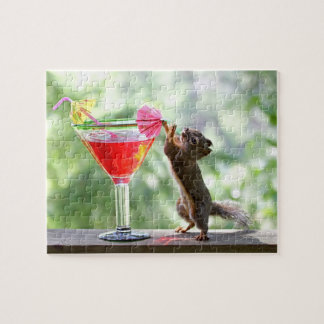 Squirrel Drinking Cocktail Puzzles
