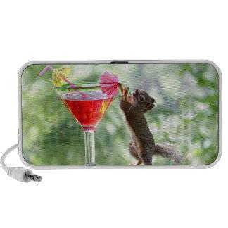 Squirrel Drinking Cocktail Laptop Speakers