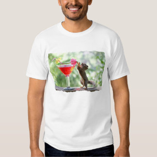 Squirrel Drinking Cocktail Tee Shirt