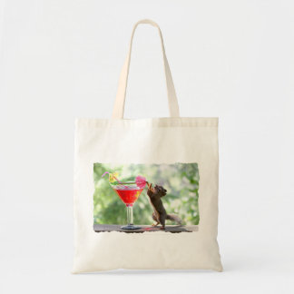Squirrel Drinking Cocktail Tote Bag