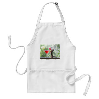 Squirrel Drinking Tropical Drink Adult Apron