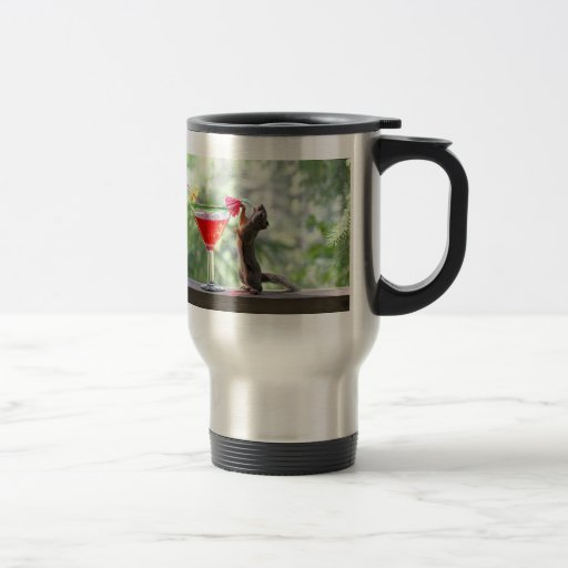Squirrel Drinking Tropical Drink Coffee Mugs