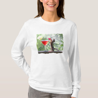 Squirrel Drinking Tropical Drink T-Shirt