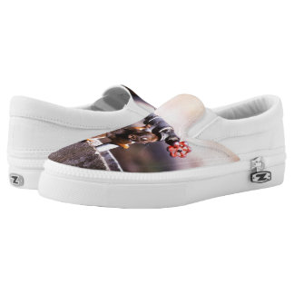 Squirrel drinking water printed shoes