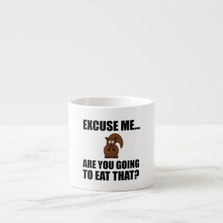 Squirrel Eat That Espresso Cup
