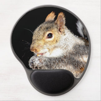 Squirrel eating a nut gel mouse pad