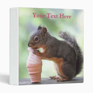 Squirrel Eating an Ice Cream Cone 3 Ring Binder