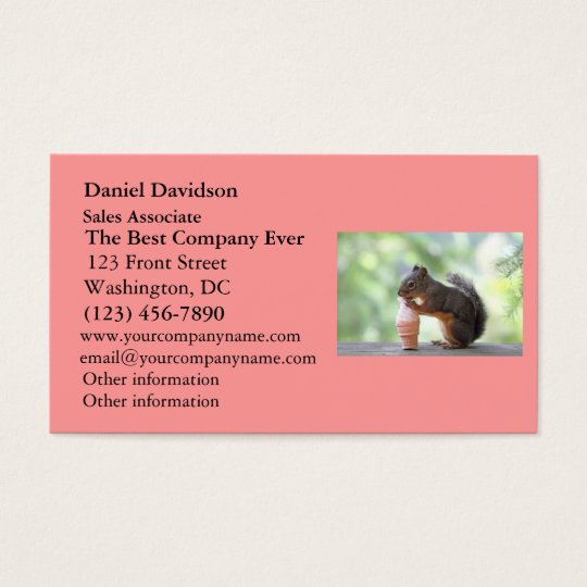 Squirrel Eating an Ice Cream Cone Business Card