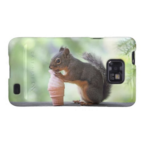 Squirrel Eating an Ice Cream Cone Galaxy S2 Case