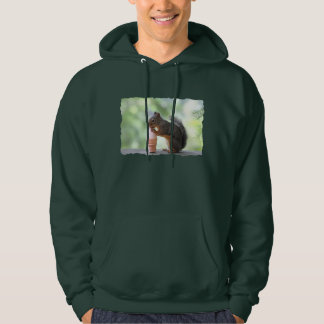 Squirrel Eating an Ice Cream Cone Hooded Pullover