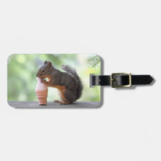 Squirrel Eating an Ice Cream Cone Travel Bag Tag