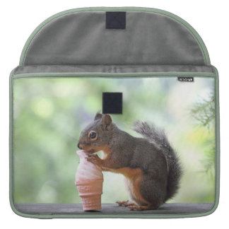 Squirrel Eating an Ice Cream Cone MacBook Pro Sleeve