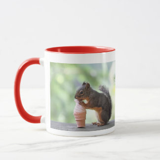 Squirrel Eating an Ice Cream Cone Mug