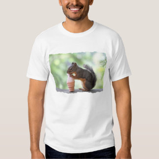 Squirrel Eating an Ice Cream Cone T Shirt