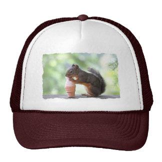 Squirrel Eating an Ice Cream Cone Trucker Hat