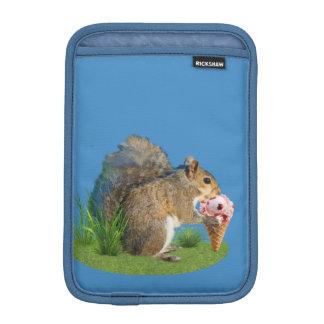 Squirrel Eating Ice Cream Cone iPad Mini Sleeve