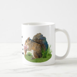 Squirrel Eating Ice Cream Cone Classic White Coffee Mug