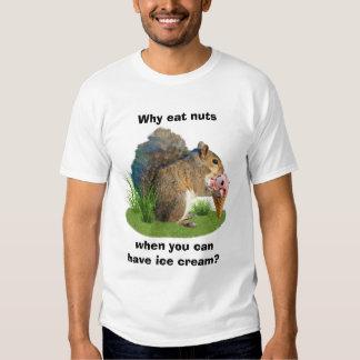 Squirrel Eating Ice Cream Cone T Shirt