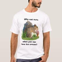 Squirrel Eating Ice Cream Cone T-Shirt