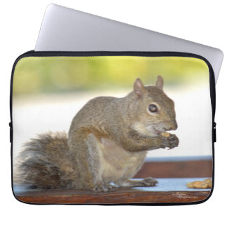Squirrel eating nuts Laptop Sleeve