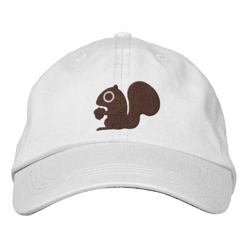Squirrel Embroidered Baseball Hat