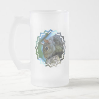 Squirrel Face Frosted Beer Mug