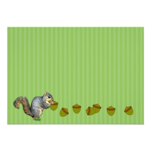 Squirrel Family Reunion Custom Invites (back side)