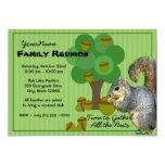 Squirrel Family Reunion Custom Invites