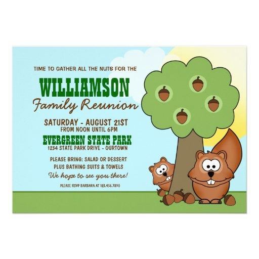 Squirrel Family Reunion Invitations