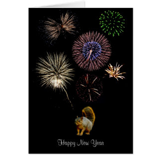 Squirrel Fireworks Card