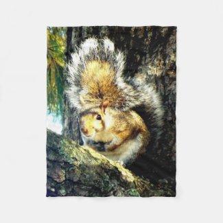 Squirrel fleece blanket