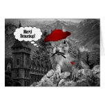 Squirrel French Artist Merci beaucoup Greeting Card