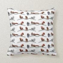 Squirrel Frenzy Pillow (choose colour)