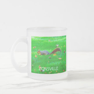 Squirrel Frosted Glass Mug