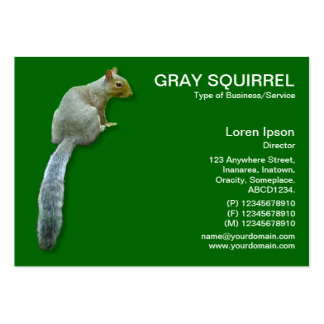 Squirrel - Green 006600 Large Business Cards (Pack Of 100)
