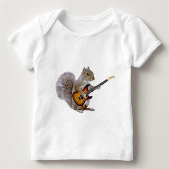 Squirrel Guitar Baby T-Shirt