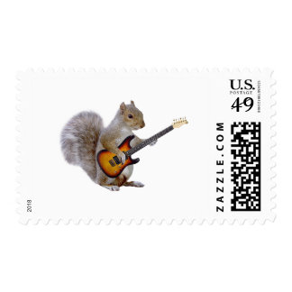 Squirrel Guitar Stamp