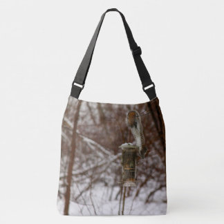 Squirrel Gymnastics Crossbody Bag