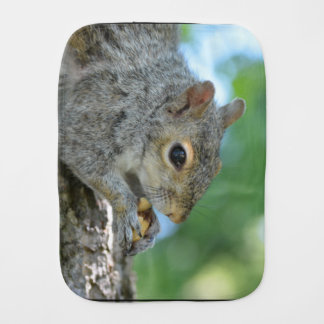Squirrel Hanging in A Tree Burp Cloth