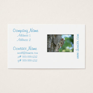 Squirrel Hanging in A Tree Business Card