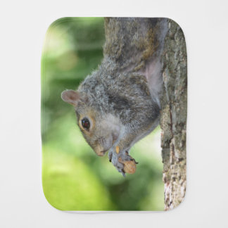 Squirrel Hanging Out Burp Cloth