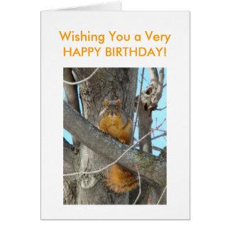 Squirrel,HAPPY BIRTHDAY! Card