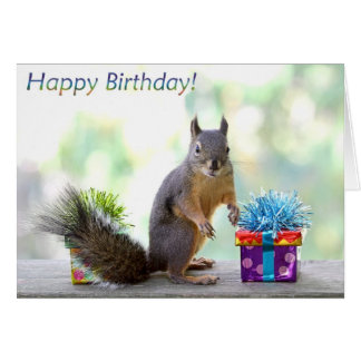 Squirrel Happy Birthday! Card