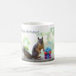 Squirrel Happy Birthday! Classic White Coffee Mug