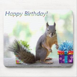 Squirrel Happy Birthday! Mousepads