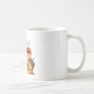 squirrel holding acorn coffee mug
