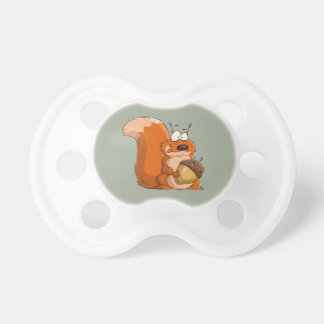 SQUIRREL HOLDING ACORN PACIFIER