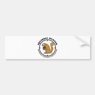 Squirrel Hunter Car Bumper Sticker