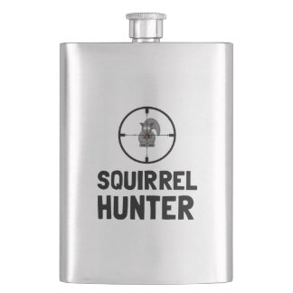 Squirrel Hunter Hip Flask